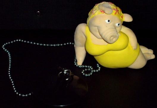 Pig Bath Tub Plug, Schweine Badewannenstoepsel