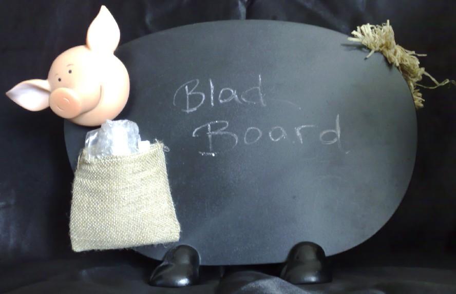 Pig Black Board, Schweine Tafel
