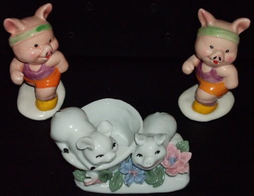 pig collection ceramic figurines