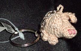 Croche Pig Key Chain Hanger, Haekelschwein