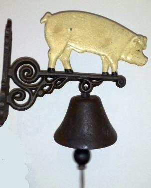 Pig Door Bell, Schweine Glocke