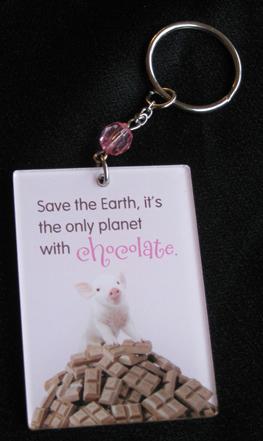 keychain pig chocolate, chocolate pig key chain