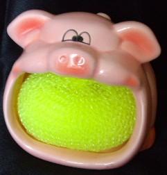 Pig Sponge Holder
