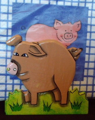 Pig Napkin Holder with Pig Napkins