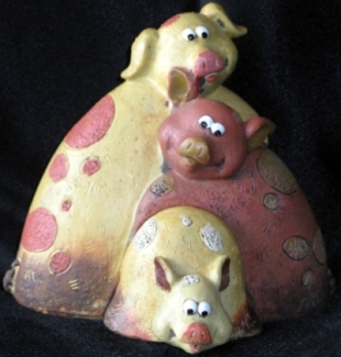 pig ornamental puzzle piece, pig collection
