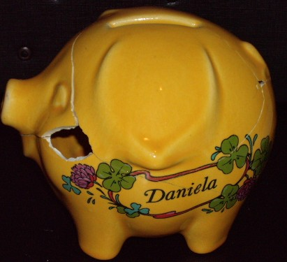 piggie bank with name