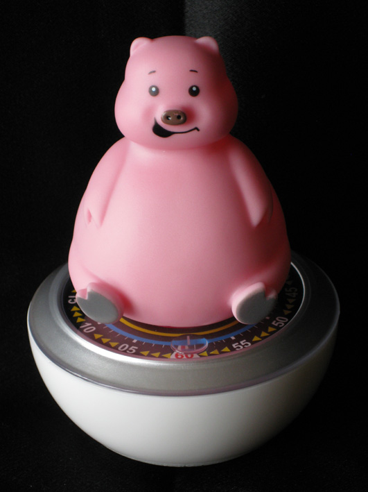 pig kitchen timer, pink kitchen timer, pig