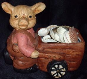Pig Plant Pot Figurine, Schweine Blumentopf