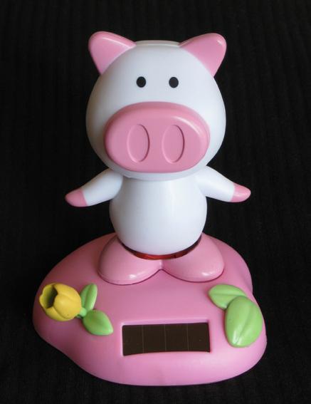 Solar Pig, Solar Piggie, Dancing Piggie, Dancing Pig, Pig