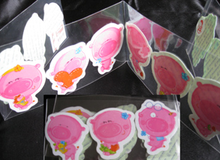 Pig Sticker, Pigs, Stickers from Thailand