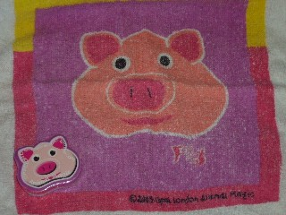 Pig Compressed Flannel, Animal Magic