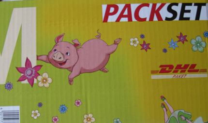 pig dhl courier package