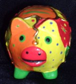 Hand Painted Ornamental Pig from Africa