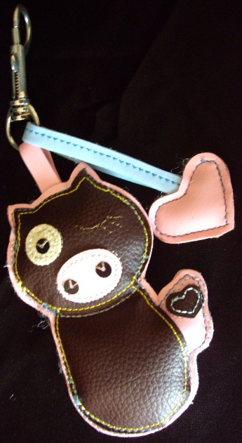 Pig Leather Key Chain