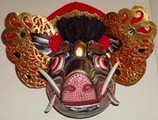 Wooden Hindu Pig Mask, Schweine Hindu Maske
